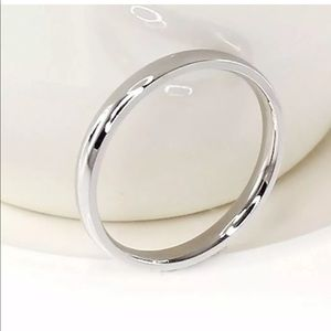 4mm Stainless Steel Silver Engagement Ring 😍😍